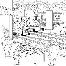 thomas train coloring pages birthday birthday coloring pages