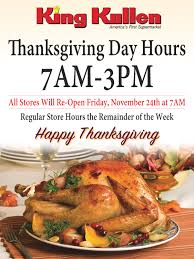 thanksgiving day 2017 store hours king kullen