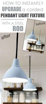 Pendant Light Rods How To Instantly Upgrade A Corded Pendant Light Fixture With A