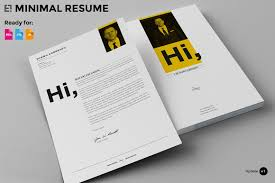 Resume Templates For Indesign 7 Pages Minimal Resume Cv Resume Templates Creative Market
