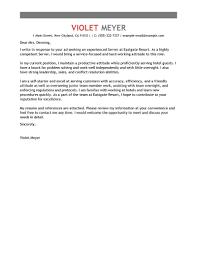 cover letter cover letter examples for waitress cover letter
