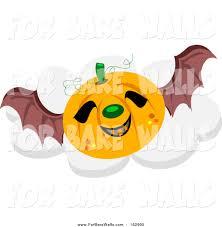 Printable Halloween Pumpkins by Printable Illustration Of A Flying Halloween Pumpkin With Bat