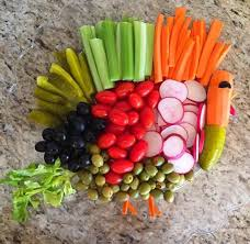 turkey vegetable tray travel and thankful thoughts