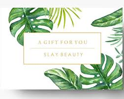 pre made gift card template spa gift certificate boutique