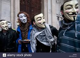 Anonymous Halloween Costume Occupy London St Paul U0027s Anonymous Protesters Wearing Guy