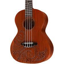 luna guitars tattoo tenor ukulele natural tenor musician u0027s friend