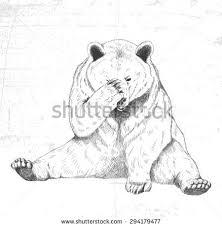 sad bear sketch handmade stock vector 294179477 shutterstock