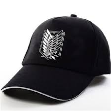attack on titan logo black baseball cap hokage shop