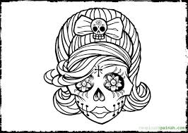 Day Of The Dead White Day Of The Dead Coloring Pages Getcoloringpages Com