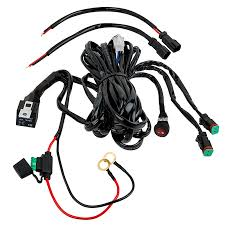 led light wiring harness with relay and weatherproof switch dual