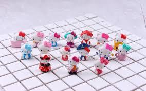 shop 16pcs kitty decoration mini toys