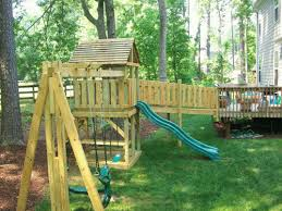 Swing Sets For Small Backyard by I Like This Bridge Off Of The Deck But We Don U0027t Have Space For