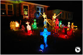 dazzling colorful lampioons at night in front yard decorations