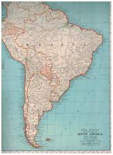 a map of south america antique south america maps atlases ebay