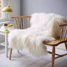 decor u0026 tips genuine sheepskin rug for durable leather and fur