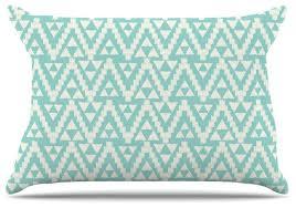 amanda geo tribal turquoise sky teal aztec pillow