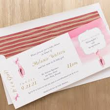 sweet ballerina baby shower invites with envelope liners beacon lane