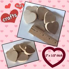 100 count various sizes wedding hearts unfinished diy wooden