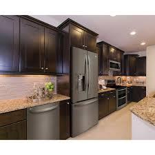 white kitchen cabinets and black stainless steel appliances lg 23 5 cu ft counter depth smart door refrigerator in printproof black stainless steel lrfxc2406d