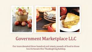 our team donated three hundred and ninety pounds of food to those