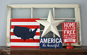 4th of july home decor usa map sign