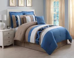 Taupe Comforter Sets Queen Queen Bedding Sets Blue Piece Queen Jolene Blue And Taupe