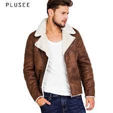 Plusee faux áo khoác da lá ™n cho nam giá ›i m¹a đ´ng mu n¢u áo khoác