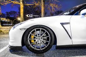 nissan gtr side view white alpha 9 nissan gt r on d2 forged wheels left side view no