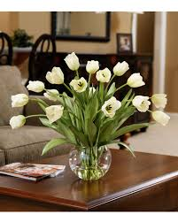 coffee table floral arrangements home decor easy decorating with abundance of tulips artificial