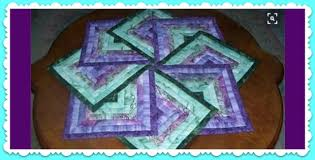 gorgeous and simple spinning quilted table topper free