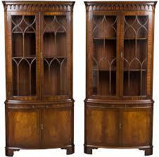 Antique Corner Cabinets Pair Of Antique Style Mahogany Corner Cabinets