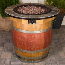 wine barrel fire table cement wine barrel fire pit wayfair