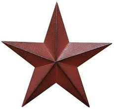 Amazon Distressed Country Red Black Burgundy Barn Star