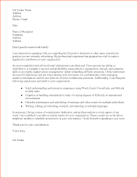 Cover Letter For Any Job Executive Admin Cover Letter 34 Administrative Assistant Cover