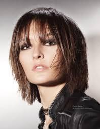 haircuts forward hair neck length layered haircut with tapered forward edges