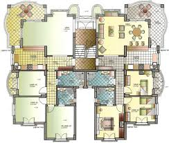 building plans of modern apartment building plans
