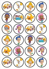 bubble guppies edible premium wafer paper cupcake toppers