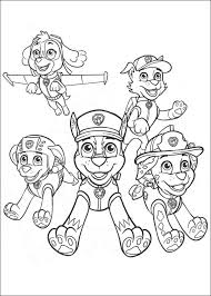 paw patrol coloring pages kids 13