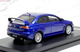 Mitsubishi Lancer Evolution X Cosmic Blue Mica Diecast Car