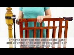 Baby Gates For Bottom Of Stairs With Banister How To Install The Summer Infant Banister U0026 Stair Top Of Stairs