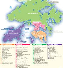 Map Of Hong Kong China by Hong Kong Map English Map With List Of Most Popular Spots