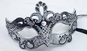 black and silver masquerade masks eurasia black silver w swarovski masquerade mask