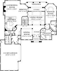 colonial style house plan 5 beds 4 50 baths 5892 sq ft plan 453 17