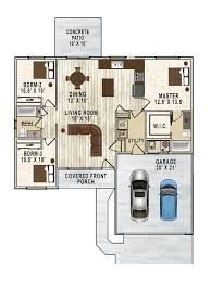 Colored Floor Plans by Greensferry Grove Neighborhood