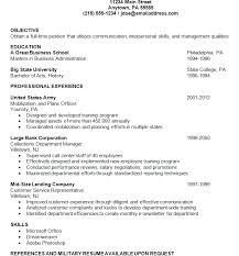 Example Of A Military Resume by Executive Bw An Example Of A Resume 12 Examples Resumes Graphic