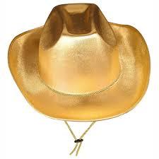 bulk hats supplies gold theatrical cowboy hat 6case