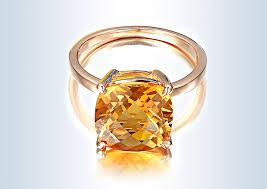 gold topaz rings images Elegant yellow topaz ring 18k rose gold crystal rings for party jpg