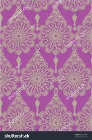 Beautiful Purple Motifs Intricate Flower Motif Stock Vector 82307446 Shutterstock