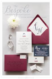 wedding invitations burgundy bespoke invitation design and nathan s navy and burgundy