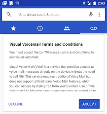 visual voicemail for android android 7 1 feature spotlight verizon visual voicemail works in